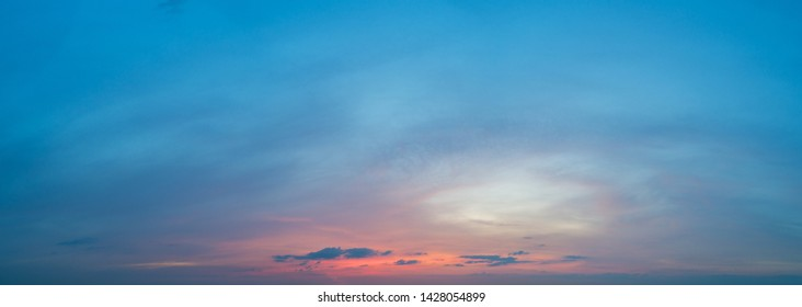 Large panorama in good quality of a beautiful blue sky with light clouds.