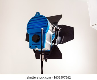 Large photo Studio with a cyclorama and a constant source of lighting equipment for video or photo shooting