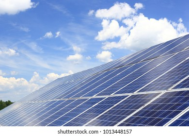 large photovoltaic arrangement on a roof top of a building
