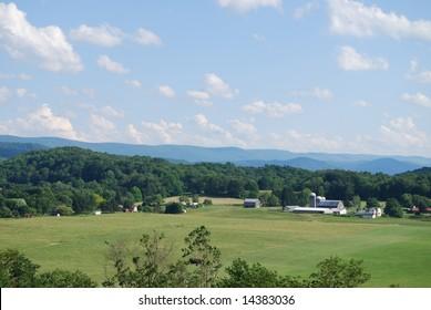 A large piece of farmland in Elkins West Virginia
