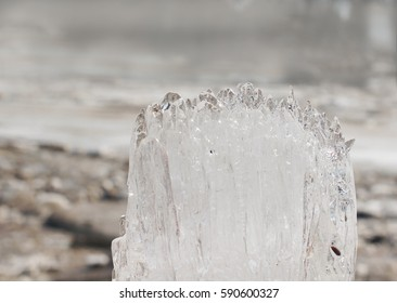 A large piece of ice.