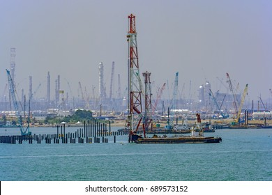 Pile Driving Barge Images, Stock Photos & Vectors | Shutterstock