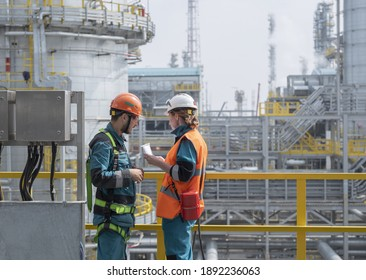 A large plant in Siberia for the processing of hydrocarbons. Checking documents by an occupational safety engineer. From the editor. Tobolsk; Russia; July; 29; December 2019
