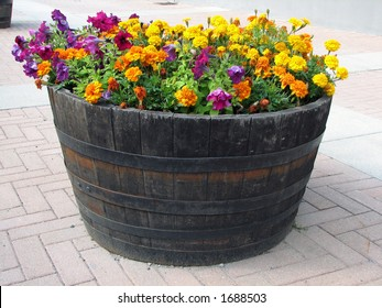 Large pot with flowers