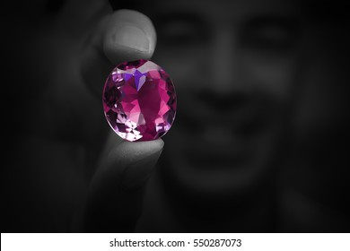 Large precious gems and colors gemstone