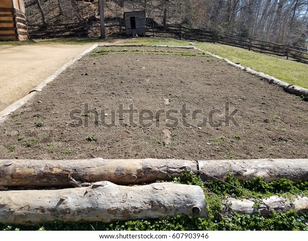Large Raised Bed Garden Dirt Stock Photo Edit Now 607903946