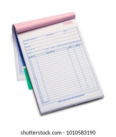 Large Receipt Pad With Copy Space Isolated on White.