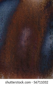 Large red and blue rusty grunge texture