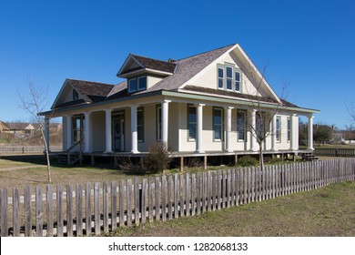 a large remodeled home from the late 1800s in Texas