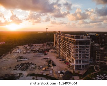 A large resort construction project near Cancun, Mexico.