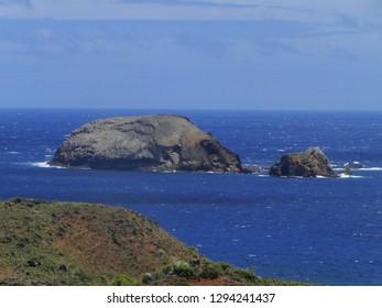 Large rocks offshore of Molokai