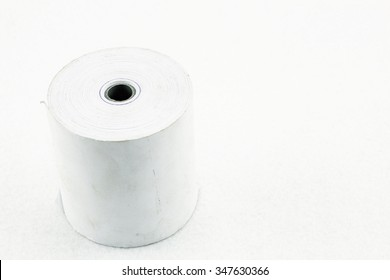 Large roll of blank paper - Roll of cash on white background