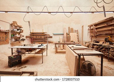 Large room as a workshop of a joinery or joinery