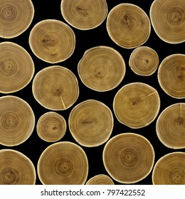 Large round wood texture