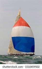 large sail boat vesheda j class K7 around the island isle of wight race