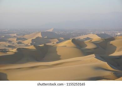 Large sand dunes near Huacachina (Ica, Peru)