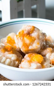 large scallop seafood Chinese dimsum or also known as siomai