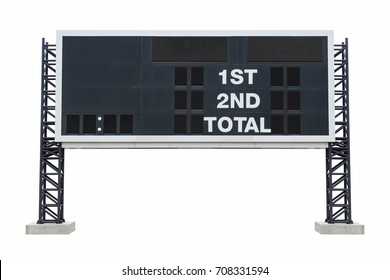 Large scoreboard stadium. with clipping path