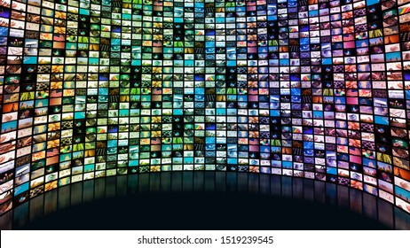 Large screen with many channels