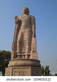 Large sculpture od budhdha made from store at Sarnath Varanasi