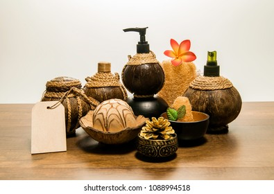 Large set of Thai spa aroma with flower and price tag
