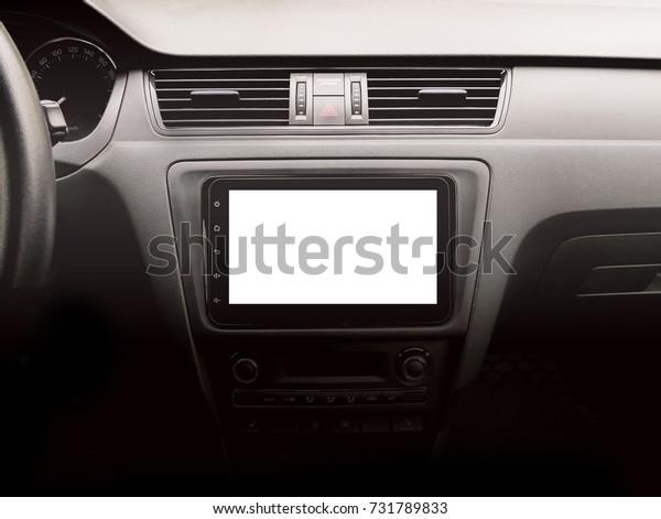 Large Size Navigation Device Modern Car Stock Photo (Edit Now) 731789833