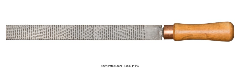 Large size rasp for wood and other materials isolated on white.