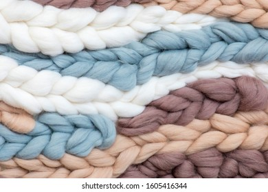 Large soft fluffy scandinavian pigtailes of yarn