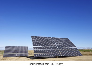 large solar panel for electric power production