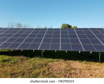 large solar panel and grass