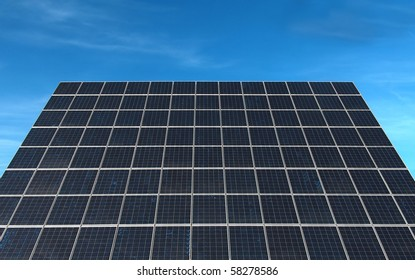 Large solar panel from a photovoltaic power station.