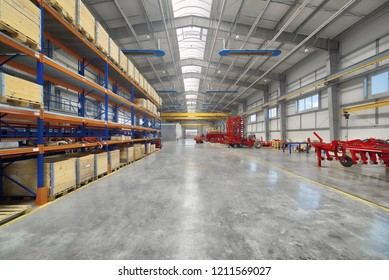 Large, spacious and light assembly shop. Manufacture of trailed and mounted agricultural equipment.