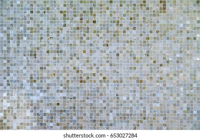 Large square seamless texture of mosaic tiles