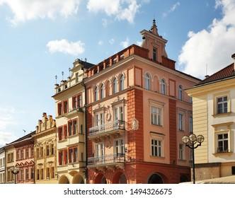 Large square (Velke namesti) in Hradec Kralove. Czech Republic