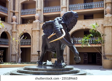 large statue of an African elephant, Sun City, South Africa