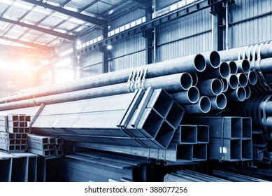 Large steel factory warehouse