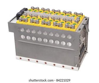 Large storage battery, isolated on white background