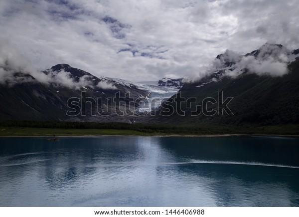 The large Svartisen Glacier in Norway