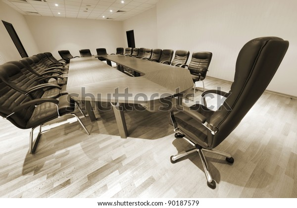 Groovy Large Table Chairs Modern Conference Room Stock Photo Edit Squirreltailoven Fun Painted Chair Ideas Images Squirreltailovenorg