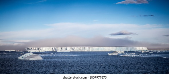 A large tabular Iceberg in Antarctic Sound.