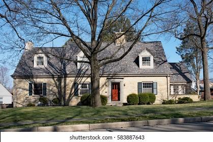 Large Tan Limestone House