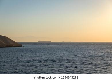 Large tanker on the horizon