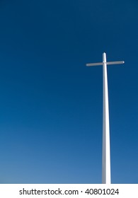 Large towering Cross with copy space