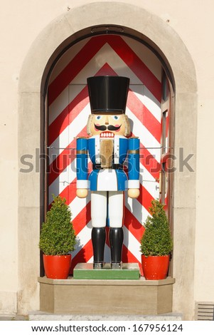 Large Traditional Toy Soldier Figurine Rothenburg Stock Photo Edit