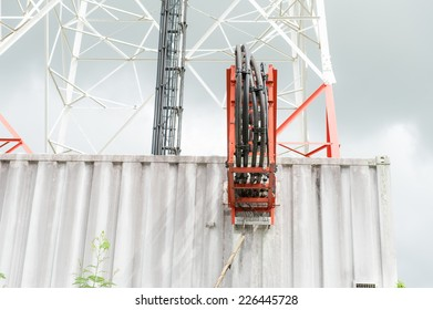 Large transmission towers the phone