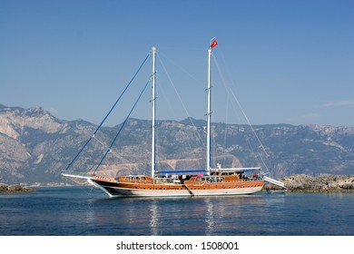 """A large Turkish yacht or """"gulet"""""""