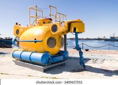 Large underwater bathyscaphe for exploring the depths of the sea. Used to study the environmental situation on the seabed around sunken ships and submarines.