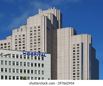 large urban hospital building
