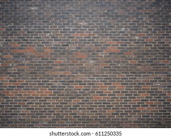large various colors of brick wall