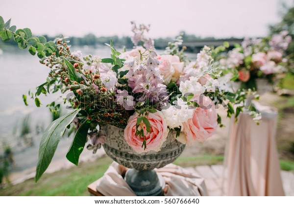 Shutterstock & Large Vases Flowers Wedding Ceremony Stock Photo (Edit Now ...